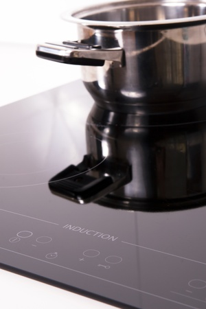 Modern kitchen; cook the induction cooker.