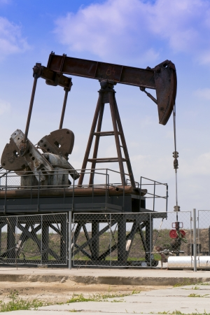 Producing oil wells in the field  photo