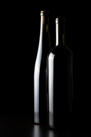 still life of wine: Wine glasses, tastefully illuminated