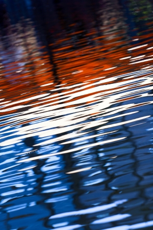Beautiful colors of the reflected waves Stock Photo - 14558512