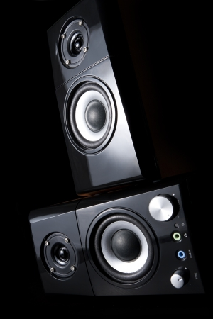 Two speakers on each other Stock Photo - 14935156