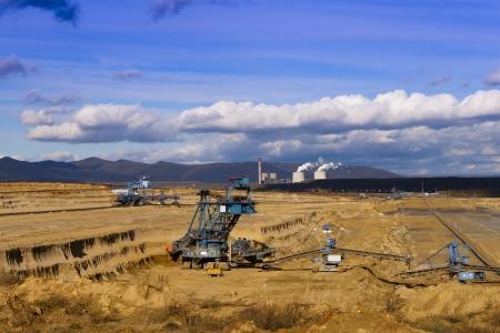 exploitation: Exploitation of quarries, sunny day  Stock Photo