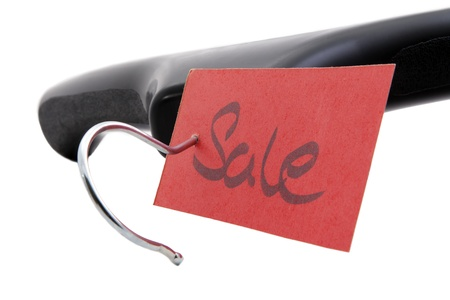 Hangers with a bright red label sale  photo