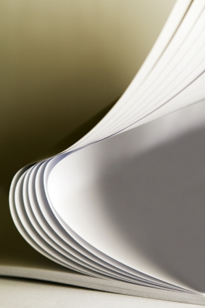Arched book pages viewed up close  photo