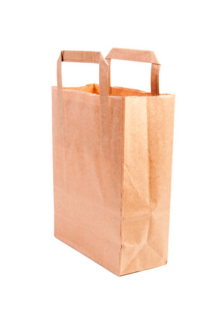 Empty paper shopping bag handles  Stock Photo - 26002118
