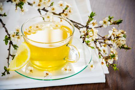 Tea tastefully served with rustic.