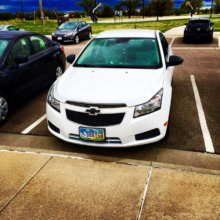 chevy: Chevy Cruze with a beautiful background