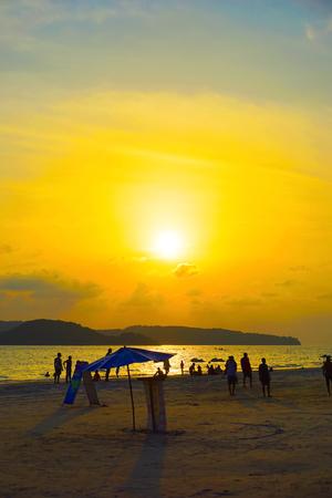 langkawi island: sunset at langkawi island, malaysia