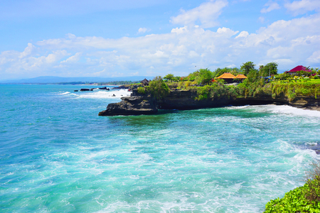 side of the road: Tanah Lot temple side road, Bali island, Indonesia