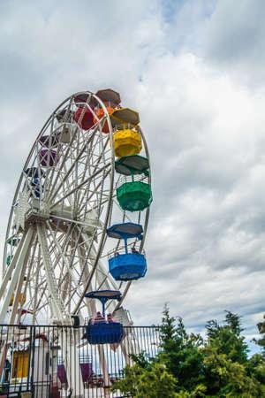 The Ferris wheel from the Tibidabo mountain, Barcelona, Spain Reklamní fotografie
