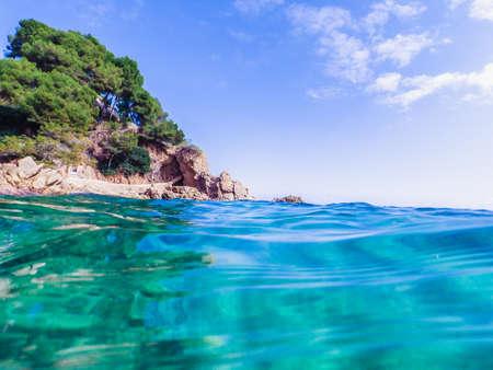 Seascape at Costa Brava, Catalonia, Spain