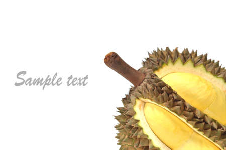 Durian from thailand on white background Stock Photo