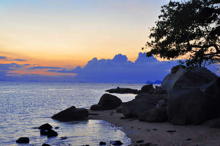 rin: Haad rin beach in koh phangan Stock Photo