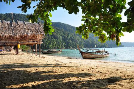 krabi: villaggio di pescatori a Moo Koh Surin  Archivio Fotografico
