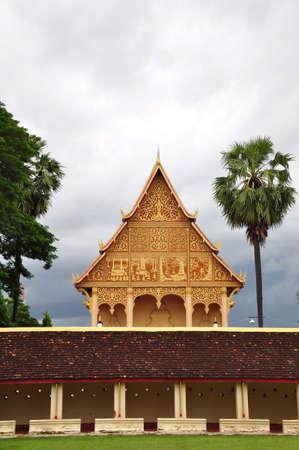 pagoda near Wat Thadlaung at Vientain - Laos Stock Photo