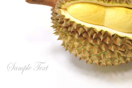 Durian from thailand on the white background