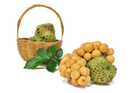 custard apple and Longong in the fruit basket Stock Photo - 8017602