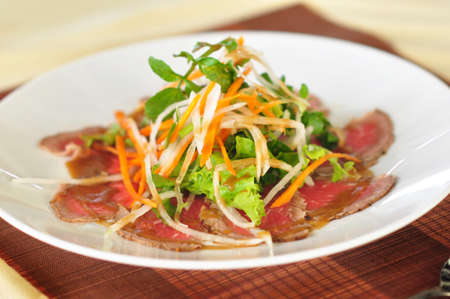 selected fine sliced beef salad with teasty dressing