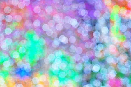 the abstract colorful of lens blur on decoration lighting photo