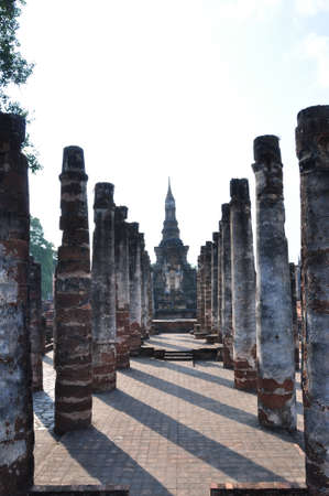 the ruin antique of Sukhothai city - thailand Stock Photo - 8727460