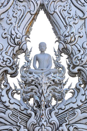 the sculpture of Buddha at Wat Rongkhun Temple - Thailand