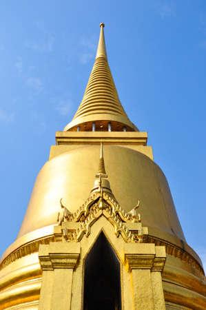 a golden stupa in the Emerald Buddha temple - Bankok, thailand Stock Photo