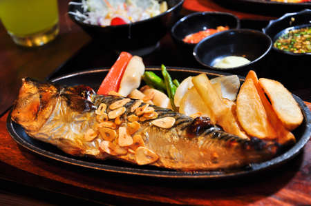 Saba fish steak in japanese style Stock Photo - 9641000