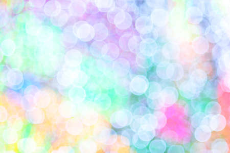 the colorful of lens blur on decoration lighting photo