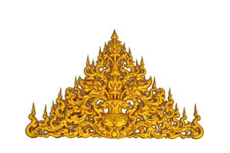 the golden thai wall sculpture call Laithai