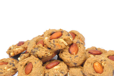 The traditional scrumptious almond choccolate chip cookies photo