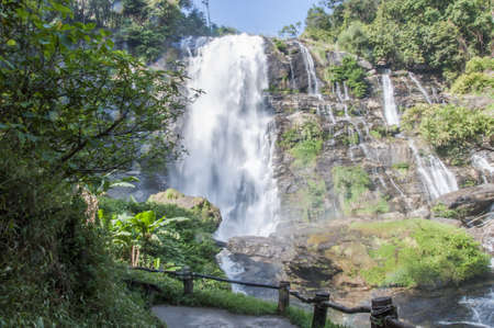 The natural of  Tee-Lor-Su waterfall in Thailand