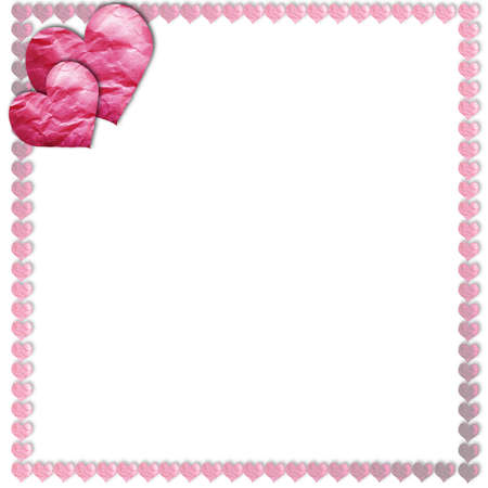 frame with  heart shapes for designs
