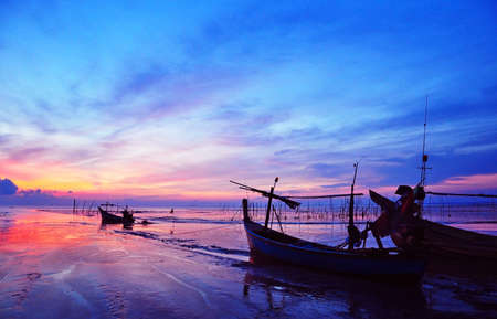 fishing village: The boats and natural view in the fisherman village, in the south of Thailand