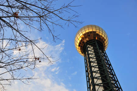 The sunsphere tower at Knoxville, tennessee Stock Photo