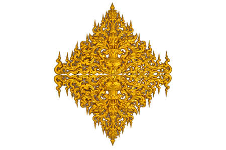 the golden thai wall sculpture at at Rongkun Temple, call