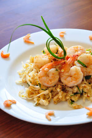 The traditional Pad Thai noodles  The most famous Thai food
