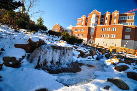 The University of Tennessee during snow time