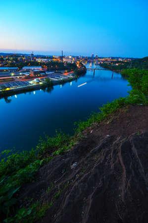 tennesse: Vista desde la parte superior del r�o Tennessee