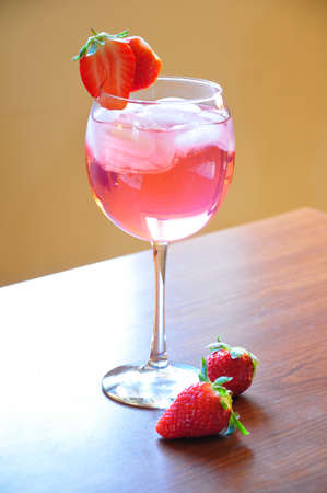 A wonderful refreshment cocktail, Strawberry paradise