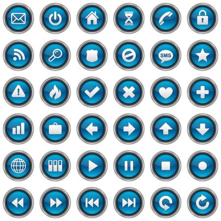 36 Web Icons Фото со стока