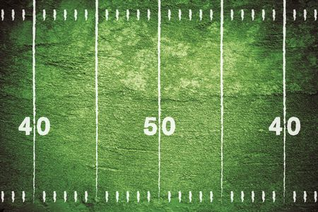 Grunge football field background. Stock Photo - 7852677