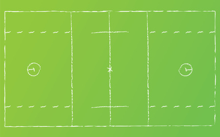 Vector illustration of lacrosse field with chalk lines. Illustration