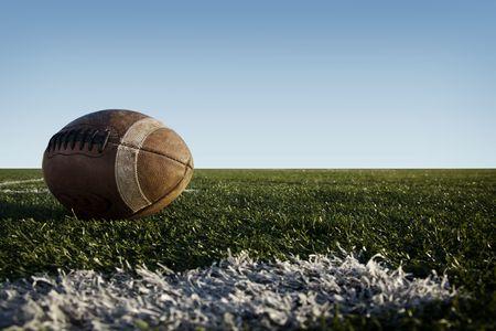 Amerikaanse voet bal opleggen van een veld.