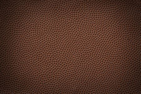 leather texture: Flat American football texture or background. Stock Photo