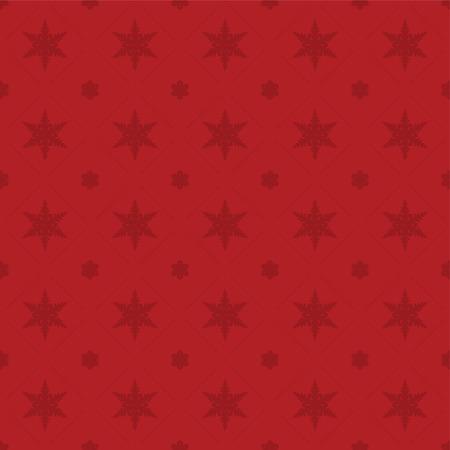 Seamless rich, red snowflake pattern.