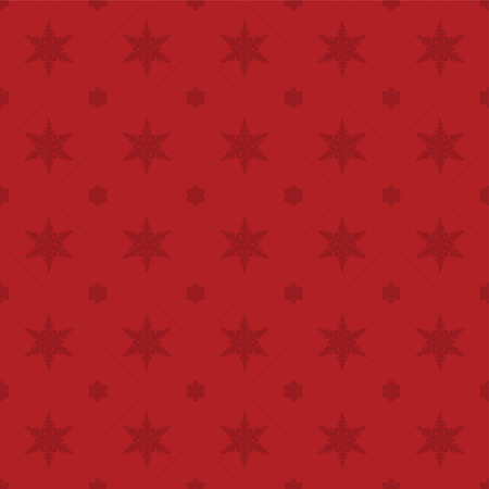 Seamless rich, red snowflake pattern.