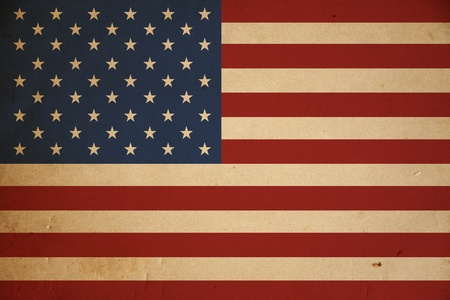 Grunge American flag background. photo
