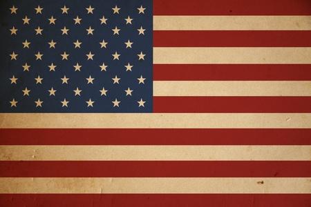 Grunge amerikanische Flagge Hintergrund. Standard-Bild - 8881237