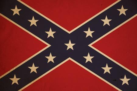 Grunge Confederate flag background.