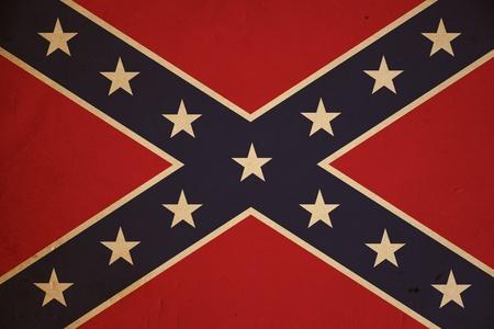 Grunge Confederate flag background.